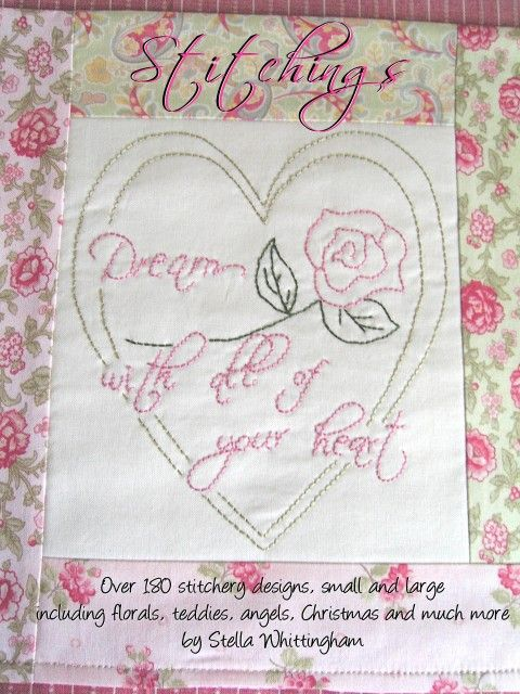 Over 180 stitchery designs in this book, with florals, teddy bears, raggedies, Christmas, and so much more.