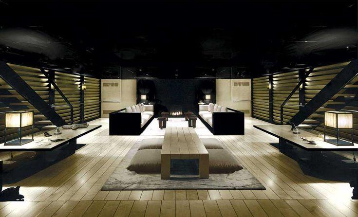 Giorgio Armani's luxury yacht MAIN's main salon
