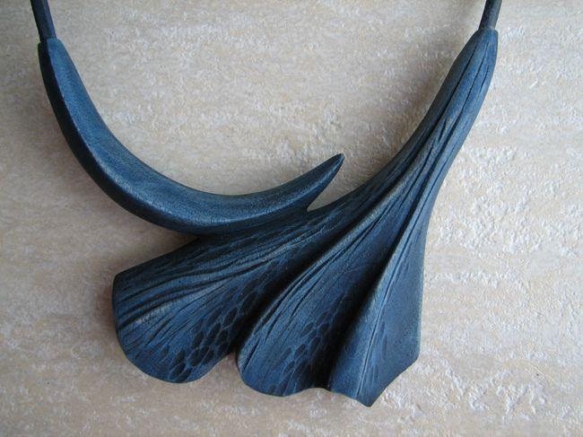 Náhrdelník - mořený javor