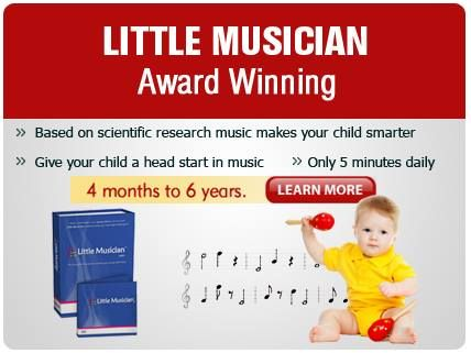 Did you know the Award Winning Little Musician is one the best in home music programs for babies and young children!  It comes with 12 months daily lessons and lifetime support developed by music experts. Check it out today and click on the below link;  http://bit.ly/1AWcQAP