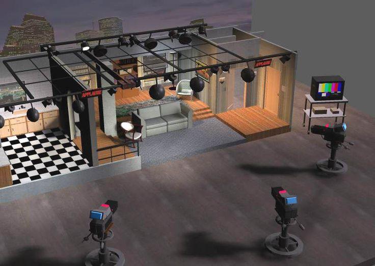 Tv Sitcom Set Props Scenes Architecture Pzrite