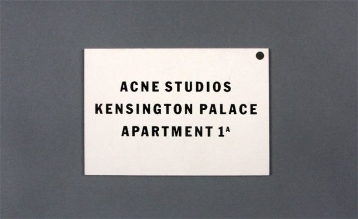 Acne Studios —Card