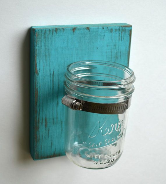 mason jar wall sconces by ALittleMiscellany on Etsy