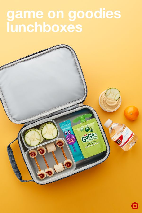 Pack it up, pack it in for the win with this sports-themed school lunchbox how-to. How cute are these baseball cucumbers? Plus, the dumbbell-shaped sandwich is sure to score some major points. Add some slam dunk veggie dippers and hummus, their favorite drink and other snacks to complete this day-making game-changer.