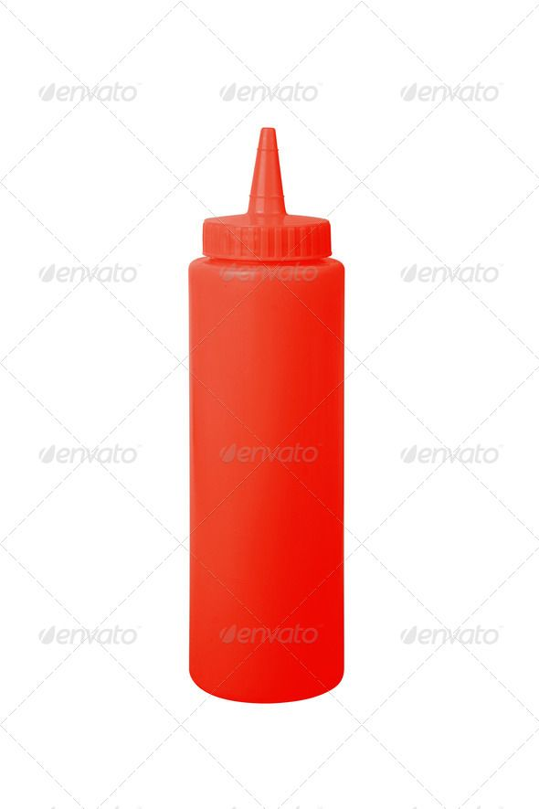 Ketchup Bottle On A White Background Ketchup Bottle Bottle Drawing White Background