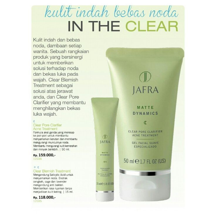 Jafra for acne clear