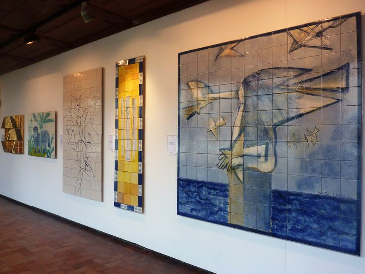 20th century tiles displayed in Museu do Azulejo, Lisbon