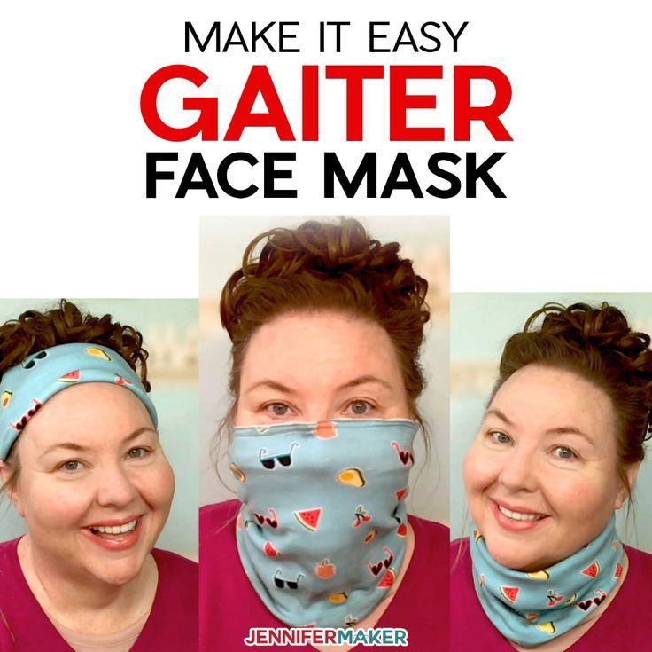Gaiter Face Mask Pattern Easy, Fast, & Versatile