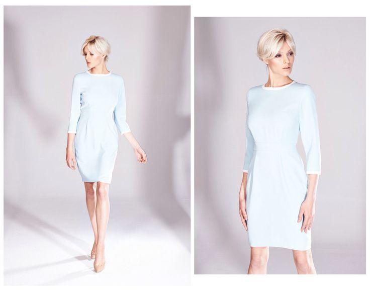 Błękitna sukienka z nowej kolekcji AW 2014/15 THECADESS