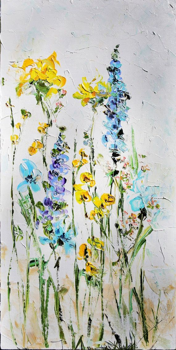 25 best ideas about abstract flower paintings on for Flower paintings on canvas