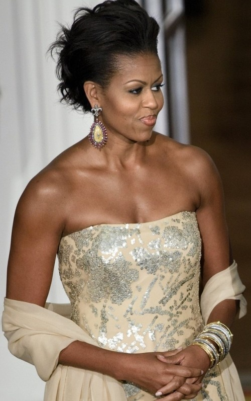 First Lady Michelle Obama in India