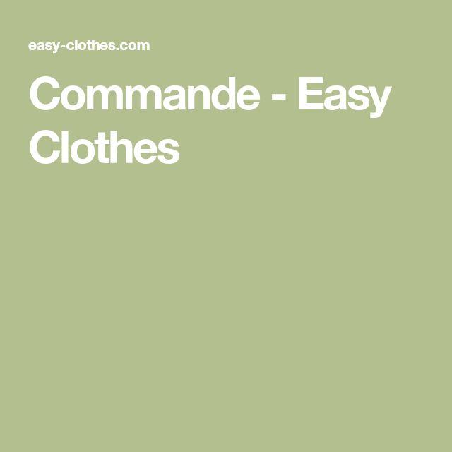 Commande - Easy Clothes