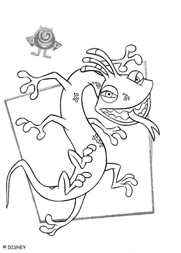 nice monsters inc randall boo hd monsters inc coloring pages randall 1