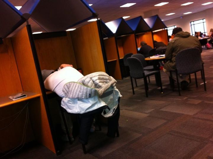 A GMU student taking a nap after lunch :P