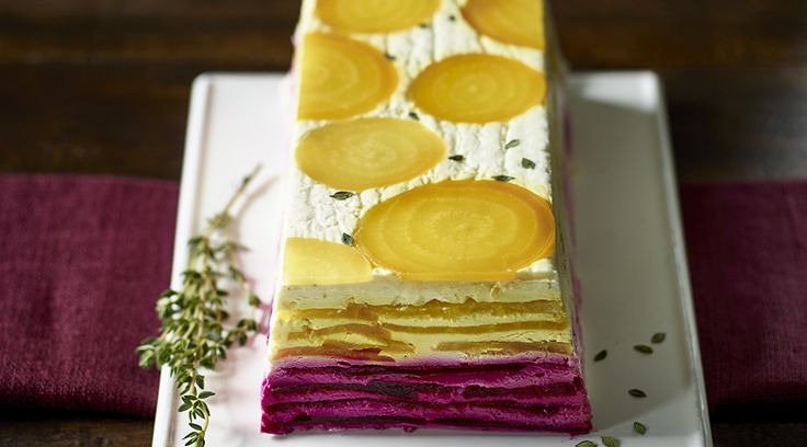 Autumn Beet and Tre Stelle® Mascarpone Terrine