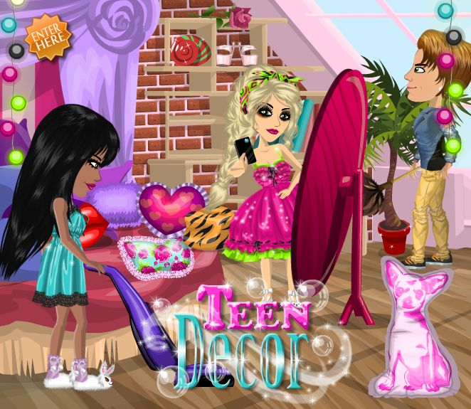 Teen decor theme at #moviestarplanet #MSP www.moviestarplanet.com