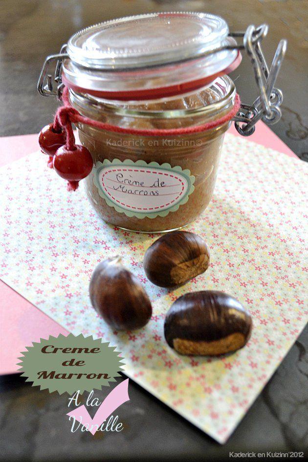 Dégustation de la crème marron fait maison à la vanille - Kaderick en Kuizinn©