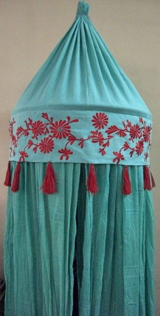 Mosquito Net Embroided canopy via Etsy.
