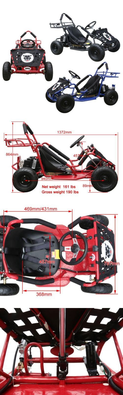 Complete Go-Karts and Frames 64656: 48V 1000W 4 Wheeler New Adult Or Kids Outdoor Sports Electric Go-Kart Racing -> BUY IT NOW ONLY: $858.99 on eBay!