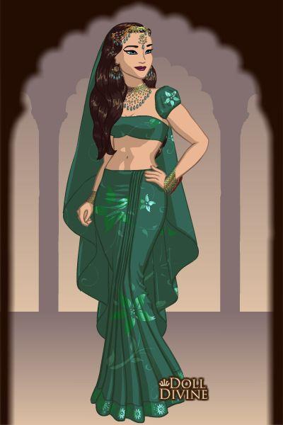 Princesa Neteb en traje Árabe