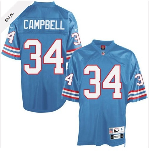 Earl Campbell Jersey, Throwback Houston Oilers Authentic Jersey in Blue. I  own this jersey!