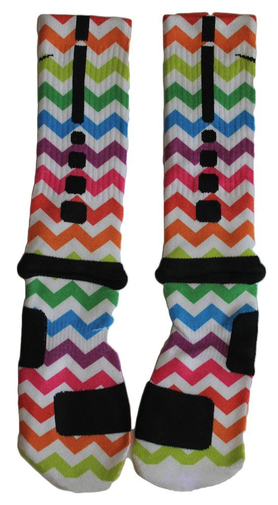 "Custom Nike Elite Socks - ""Spectrum"""