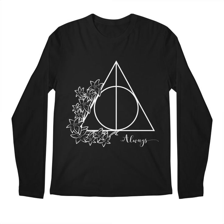 Always (white over black/dark) Men's Longsleeve T-Shirt by The Doodling Studio #deathlyhallows #harrypotter #always #potterfan #snape