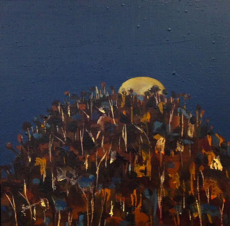 Blood Moon landscape # 1 - oil on canvas - (30 x 30 cm) sold