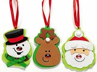 12 Chunky Christmas Decoration Crafts with Jewels, Christmas Crafts by Theme, Father Christmas Crafts, kids crafts, childrens crafts, children's craft supplies, crafts for kids