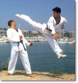 Tae Kwon Do, the best martial arts for kicking prowess. But it must be coupled with a grappling martial art like Judo or Aikido to be the complete package. ;)