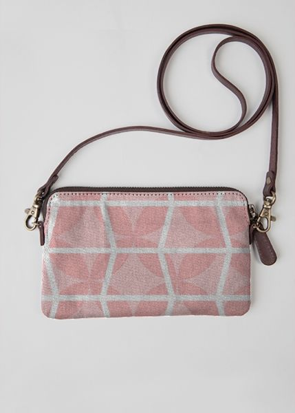VIDA Leather Statement Clutch - FLORABELLA : QUINCE by VIDA