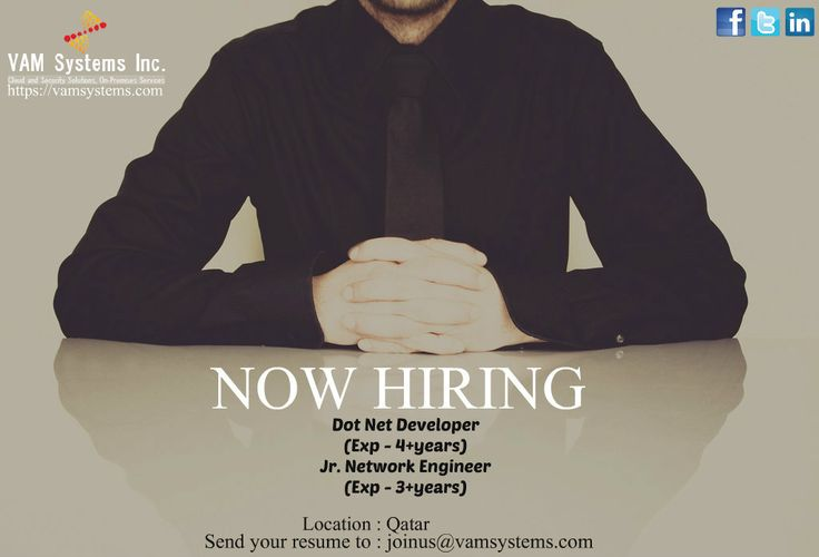 Wanted 1 Dot Net Developer 2 Jr Network Engineer Location - net developer resume