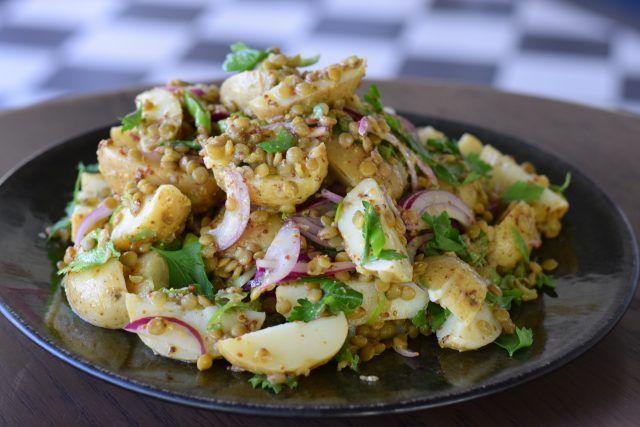 New Potato & Lentil Salad With Mustard