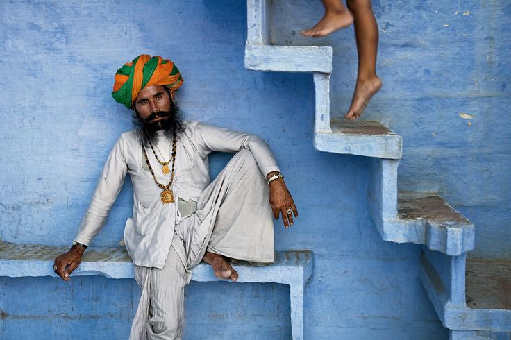 Man Beneath Stairs    INDIA-10997