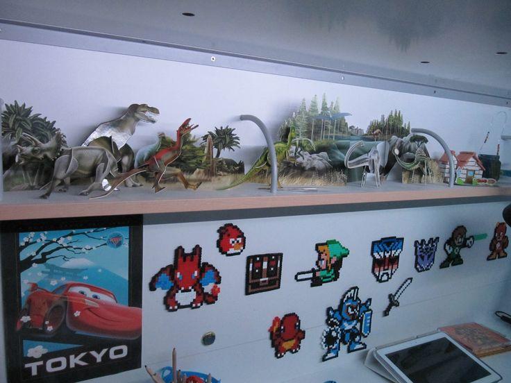 Dinosaur decor and Hama pearls