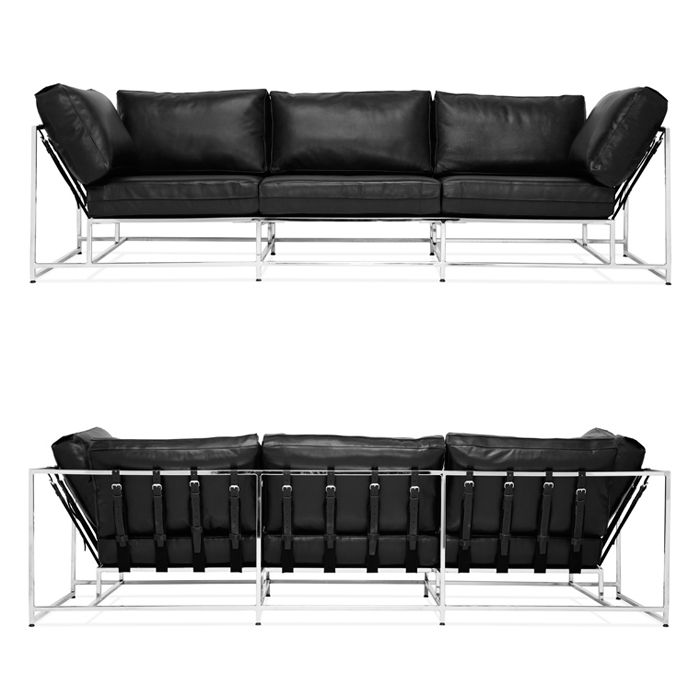 PARALLEL Couch by Stephen Kenn. Made in Los Angeles, the PARALLEL collection is inspired by the characteristic principles of Soviet Modernism and bold interpretations of Brutalist Architecture through the simplification of form, receptive angular geometries and functional design