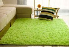 Горячая распродажа 12 цветов длинные плюшевые лохматый мягкий ковер коврик скольжению двери коврик для спальни гостиной бесплатная доставка(China (Mainland))