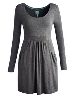 ALEXI PLAIN Womens Plain Jersey Tunic simply lines and neutral grey makes a perfect tunic to wear with anything #Joules #Christmas #Wishlist