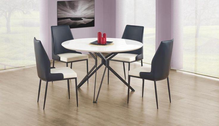 Lakierowany stół Piksel idealnie wpisze się w nowoczesny minimalistyczny wystrój wnętrza.