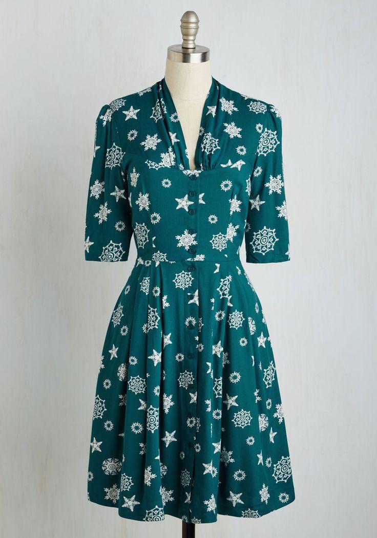 платье в снежинки