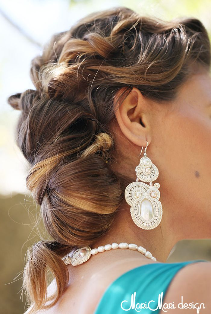 #brincos #earrings #bridal #pérolas #pearls #soutache #white #branco