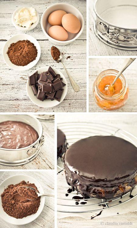 National Sacher Torte Day – December 5    Sacher Torte recipe, via Claudia Castaldi #baking #dessert #cake