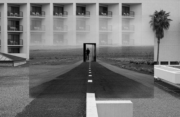 fotomontage van zwart wit fotos