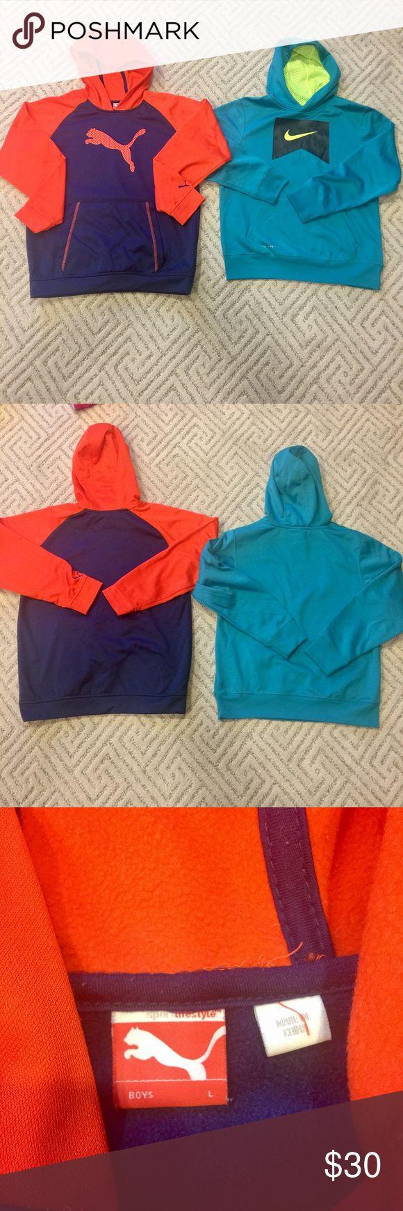 Boys Nike & Puma Hoodies sweatshirts in L size Boys Nike & Puma Hoodies sweatshirts in L size, still in good condition. Nike & Puma Shirts & Tops Sweatshirts & Hoodies