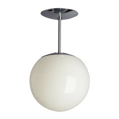"Galaxy Lighting 61008 CHR Swedish Semi Flush Ceiling Light, Polished Chrome 13"" $23"