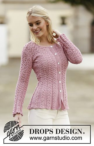 Ravelry: 160-2 Love Is In The Air Cardigan pattern by DROPS design