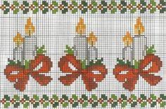 Point de croix *<3* Cross stitch: Ponto cruz (Natal)                                                                                                                                                      Mais