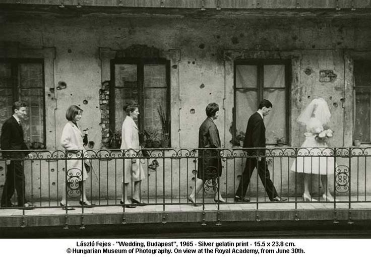 wedding, budapest, 1965 by lászló fejes