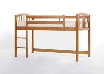 Junior Loft Bed in Pecan
