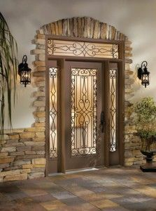 MICRO TREND // 12 Wrought Iron Products That Add Old-World Style To Your Home. No. 3: Door Glass Insert - Your front door can be as welcoming as the Mediterranean coast with the Wyngate design by ODL.